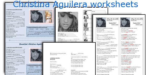 Christina Aguilera worksheets