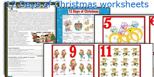 12 Days Of Christmas Worksheets. Worksheet. 12 Days Of Christmas Worksheet At Clickcart.co