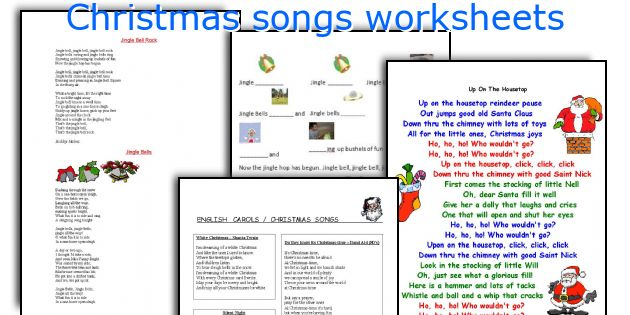 Christmas songs worksheets