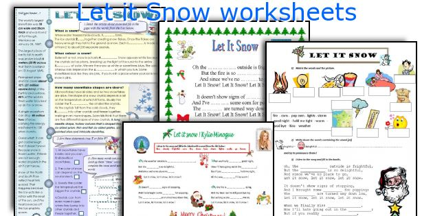 Let it Snow worksheets