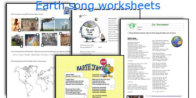 Earth song worksheets