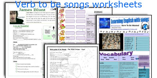 Verb To Be Songs Worksheets. Worksheet. Verb To Be Worksheet At Mspartners.co