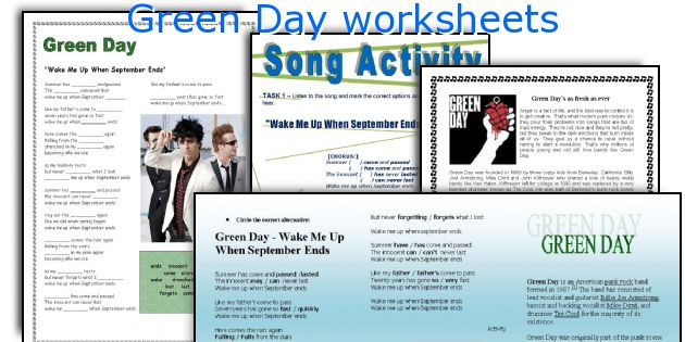 Green Day worksheets