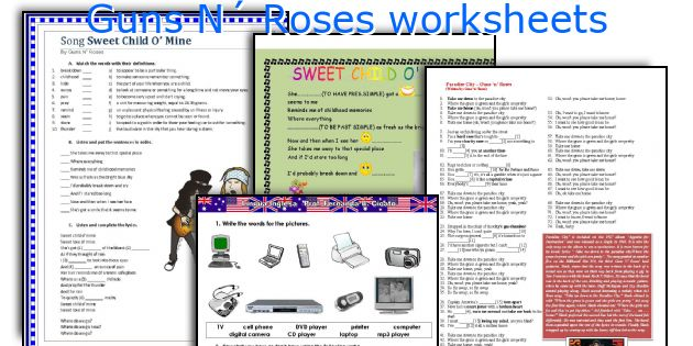 Guns N´ Roses worksheets