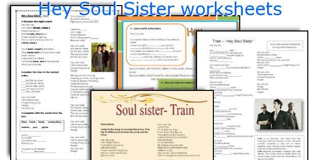 Hey Soul Sister worksheets