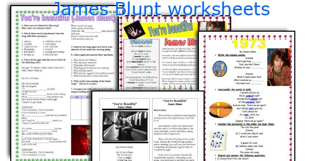 James Blunt worksheets