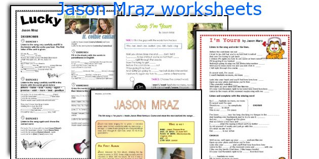 Jason Mraz worksheets