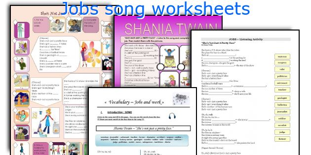 Jobs song worksheets