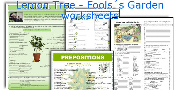 Lemon Tree - Fools´s Garden worksheets
