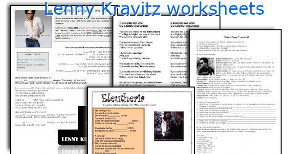 Lenny Kravitz worksheets