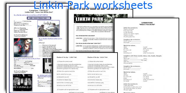 Linkin Park worksheets