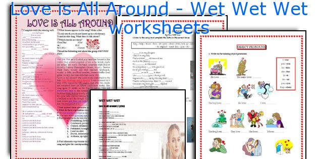 Love is All Around - Wet Wet Wet worksheets