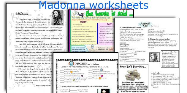 Madonna worksheets