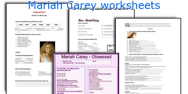 Mariah Carey worksheets