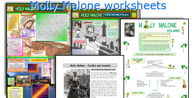 Molly Malone worksheets