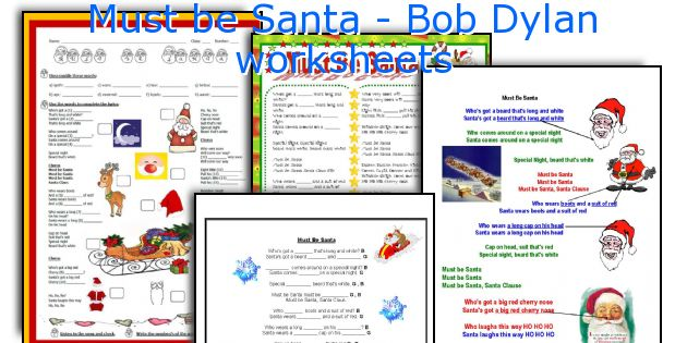Must be Santa - Bob Dylan worksheets