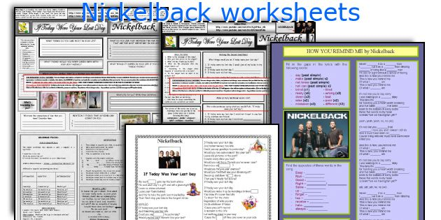 Nickelback worksheets