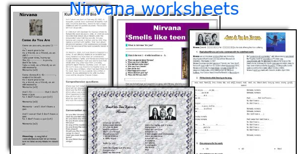 Nirvana worksheets