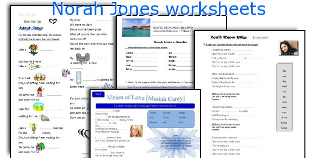 Norah Jones worksheets