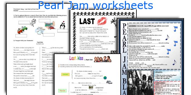 Pearl Jam worksheets