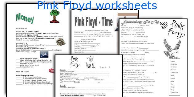 Pink Floyd worksheets
