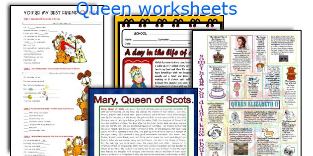 Queen worksheets