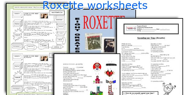 Roxette worksheets