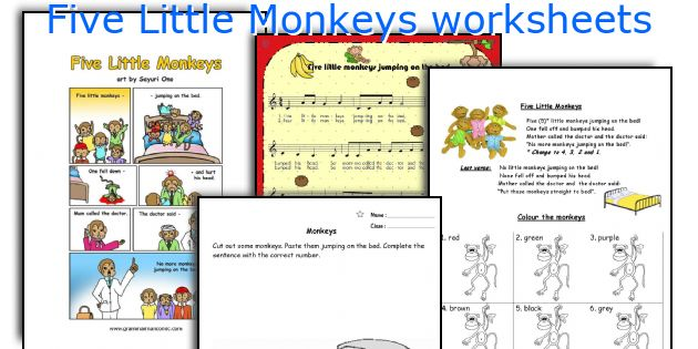 Five Little Monkeys worksheets