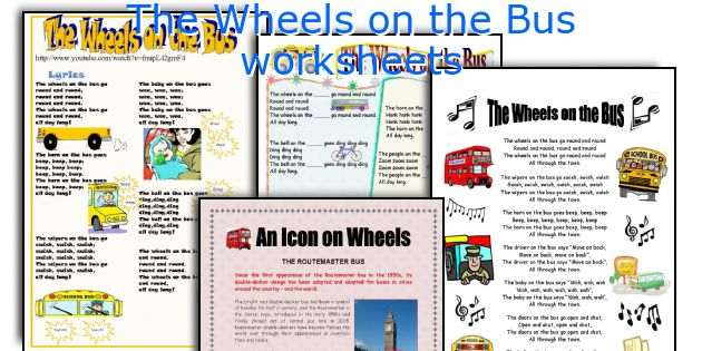 The Wheels on the Bus worksheets