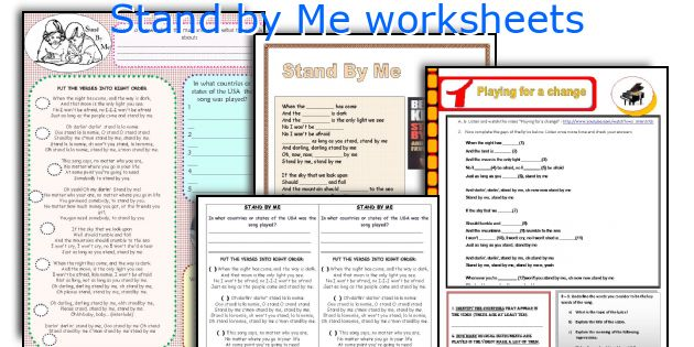 Stand by Me worksheets