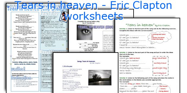Tears in heaven - Eric Clapton worksheets