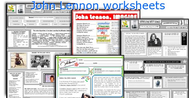 John Lennon worksheets
