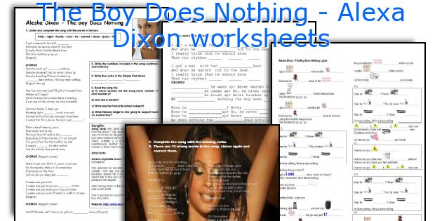 The Boy Does Nothing - Alexa Dixon worksheets