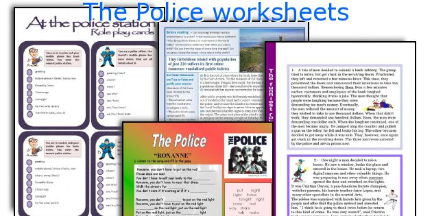 The Police worksheets