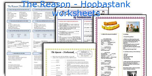 The Reason - Hoobastank worksheets