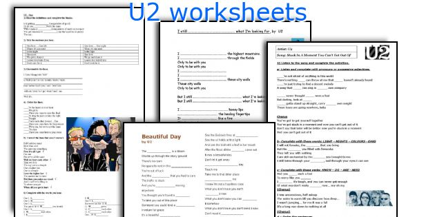 U2 worksheets