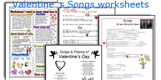 Valentine´s Songs worksheets