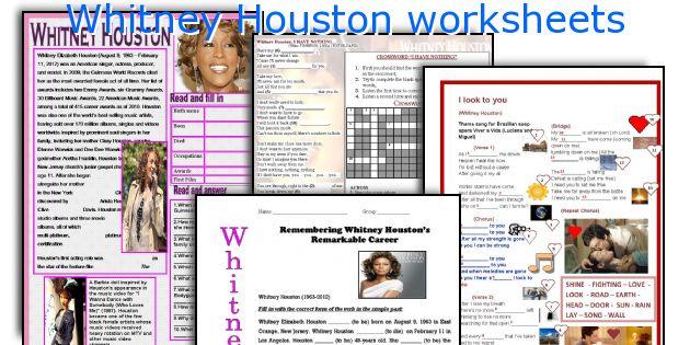 Whitney Houston worksheets