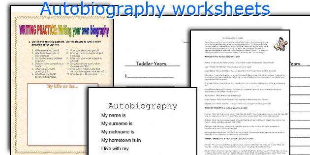 Autobiography worksheets