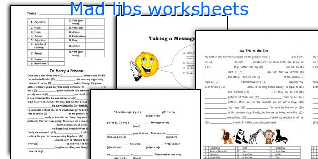 English teaching worksheets Mad libs – Mad Lib Worksheets