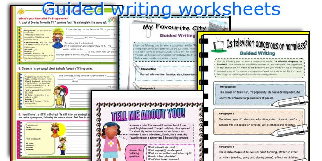 Guided writing worksheets
