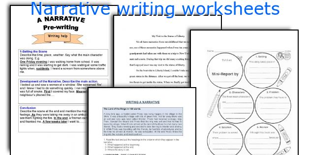 Number Names Worksheets writting worksheets : English teaching worksheets: Narrative writing