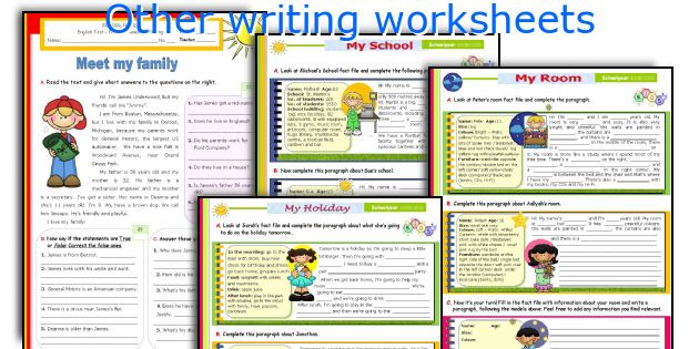 Other writing worksheets