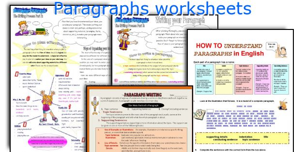 English teaching worksheets Paragraphs – Paragraph Worksheets