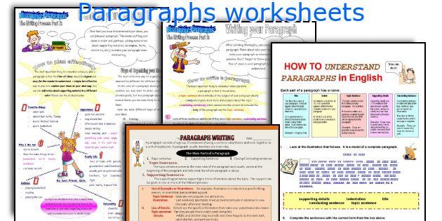 Paragraphs Worksheets