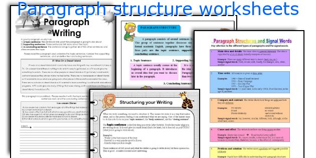 five paragraph essay format worksheet