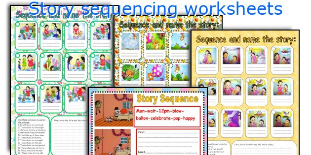 English teaching worksheets Story sequencing – Picture Story Sequencing Worksheets Kindergarten