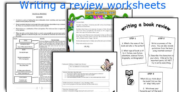 Writing a review worksheets