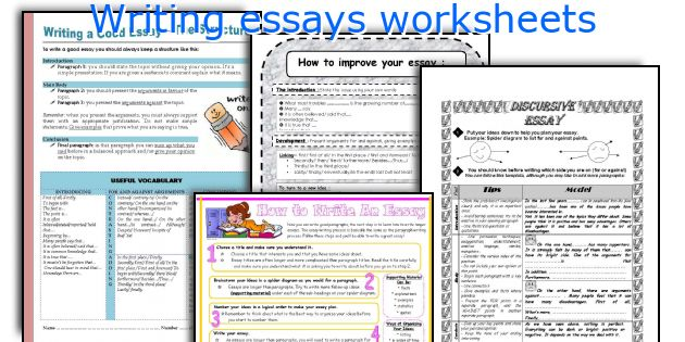 worksheets writing essays