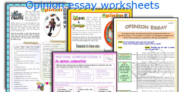 An opinion essay writing